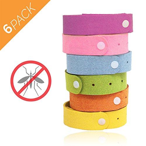 6er Pack Aspectek Mückenschutz Armband – natürliche Stechmücken- und Schnakenabwehr – angenehmer Geruch - verstellbare Größen für Kinder und Erwachsene