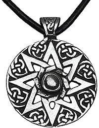 Halskette Anhänger Tetraeder Necklace Amulett Merkaba Mandala Yoga Meditation