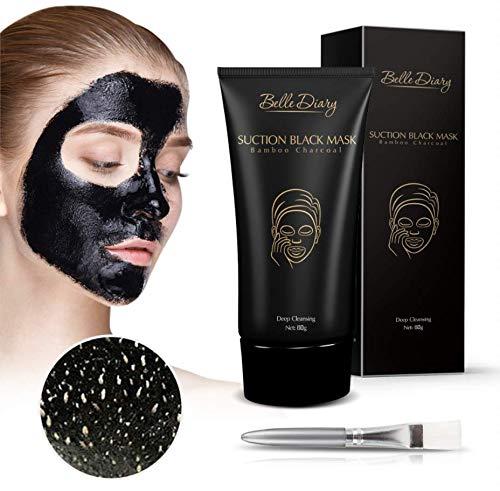 Black Mask Maschera Facciale Peel Off Fango Nero Rimozione Punti Neri Pulizia Profonda della Pelle Trattamento Anti Acne