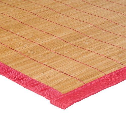 MonBeauTapis 348102 Bali-Tappetino in bambù, 48 x 33 cm, colore: (Fucsia Bambù)