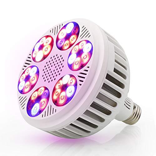 Derlights LED Pflanzenlicht, Vollspektrum Wachstumslampe, Glühbirne