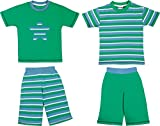 Kinderbutt Shorty 4-tlg. mit Druckmotiv Stern Single-Jersey blau