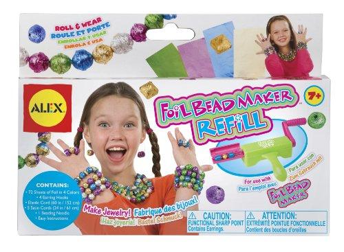 Alex 52604462 - Bastel Schmuck Nachfüllpack (Foil Bead Maker) (Refill Alex Toys)