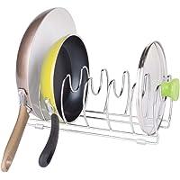 mDesign égouttoir à vaisselle – rangement cuisine en métal – parfait pour ustensile de cuisine (poêles, casseroles et…