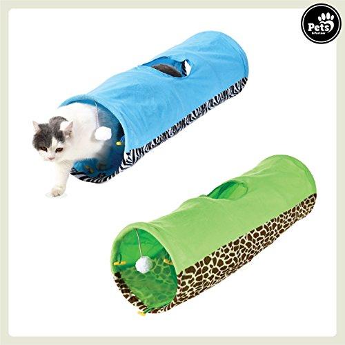 Pets&Partner Katzentunnel/Spieletunnel mit Katzenspielzeug für kleine und große Katzen, ()