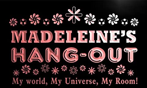 pq963-r Madeleine's Personalized Hang Out Girl Kid's Room Light Neon Sign