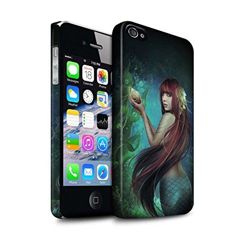 Officiel Elena Dudina Coque / Clipser Matte Etui pour Apple iPhone 4/4S / Laisse Moi Entrer Design / Agua de Vida Collection Sirène/Shell