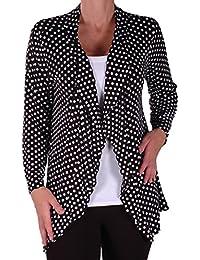 Eyecatch - Heidi Frauen geöffnete Lässige Jersey Spotty Cardi Damen Plus Größe Cardigan Größen 14-28