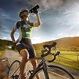 Trinkflasche Edelstahl mit Bambus Kappe (2 Trinkverschlüsse) - iParaAiluRy BPA freie Thermosflaschen 500/600/750/1000ml - Vakuumisolierte Doppelwandig Edelstahlflasche für Outdoor, Büro, Camping, Sport - Flasche Edelstahl - 6
