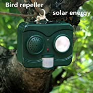 OUYAWEI Portable For Solar Energy Acousto-Optic Bird Repeller Repellent Deterrent Pigeons Scarer Crow