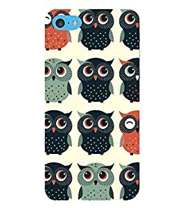 Cartoon, Black, Cartoon and Animation, OWL, Printed Designer Back Case Cover for Apple iPod Touch 6 :: Apple iPod 6 (6th Generation)