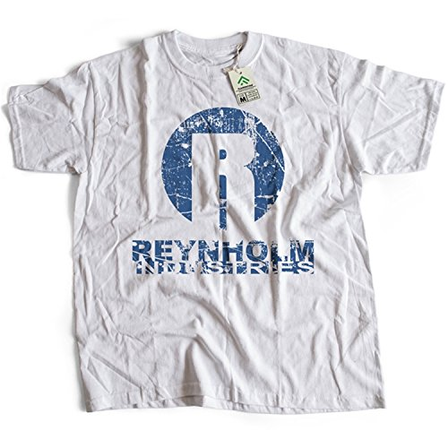 9040w Reynholm Industries Herren T-Shirt The IT Crowd Comedy TV(X-Large,White)