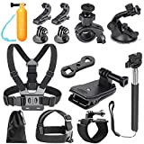 Neewer 25-in-1 Kit di Accessori per Sport Outdoor per GoPro Hero 4/3+/3/2/1/, Sj4000/5000/6000/7000, Xiaomi Yi, Sony Action Cam Hdr-as15 As20 As30v AS50 As100v As200v Hdr-az1 Mini Sony Fdr-x1000v