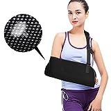 ARM Sling per lesioni alla spalla, gomito avambraccio regolabile e braccio fionda will spegnere le ferite, mesh traspirante brace Sprain supporto per braccio rotto & frattura–donna–uomo (nero)