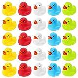 Wellgro 25 Patos de baño (Amarillo, Rojo, Blanco, Azul, Verde), Cada Pato de Quitsche-Ente Aprox....