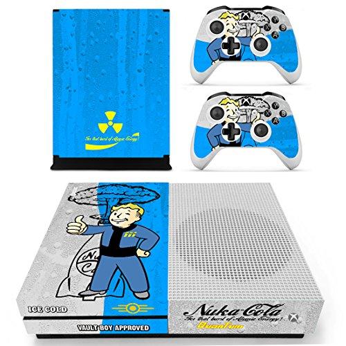 Preisvergleich Produktbild THTB Xbox One Slim + 2 Controller Aufkleber Schutzfolien Set - Fallout (2) / One S