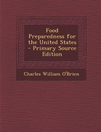 Preisvergleich Produktbild Food Preparedness for the United States
