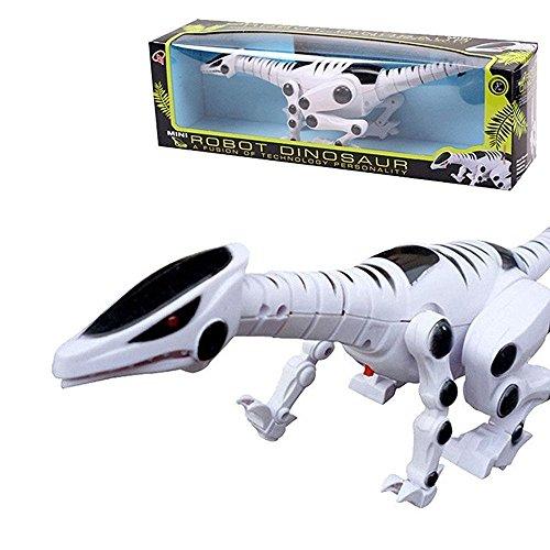PowerLead Robot Dinosaurio con Roaring Sound Walking Flash Flash Rojo para Niños