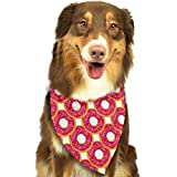 nxnx Red Donut Candy Sweet Food Triangle Bandana Scarves Accessories for Pet Cats and Dogs - Gifts