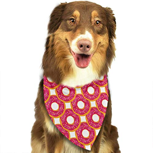 nxnx Red Donut Candy Sweet Food Triangle Bandana Scarves Accessories for Pet Cats and Dogs - - Super Coole Selbstgemachte Kostüm