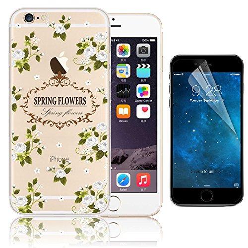 iPhone 6 Plus Case (5.5 pollice), Bonice iPhone 6S Plus Cover,Bonice Colorato Ultra Thin Morbido TPU Silicone Rubber Clear Trasparente Back Creativo Case –pulcino 02 model 6