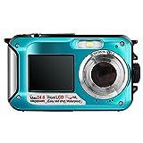 Hoyxel Wasserdichte Digitalkamera EG04 Mini Videokamera FHD Digital Wasserdichtkamera Weihnachten Neujahr Geschenk (Rein Blau)