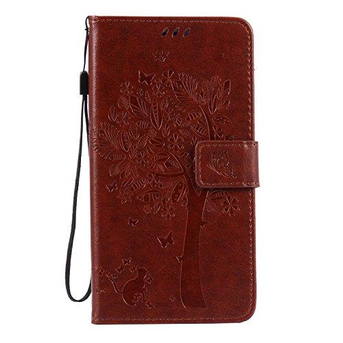 Leather Case Cover Custodia per Huawei Honor V8 ,Ecoway Caso