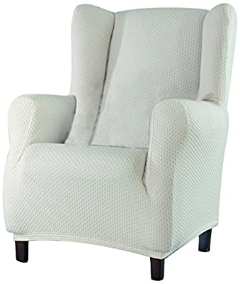 Eysa 1-Square Sucre Wing Chair Cover, Beige_P