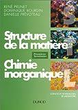 Structure de la matière - Chimie inorganique, premières et terminales STL
