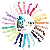 AAPLUS- 100 Stück(zufällige Farbe) Frauen Mädchen Kinder Pferdeschwanz halter Haargummi Haarseil Harrband Haarschmuck Elastische bunte Haar Stil Ring Kopfband Zubehör Haarfrisuren für sport,Genießen