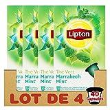 Lipton Thé Vert Marrakech Mint, Capsules Compatibles Nespresso, Label Rainforest...
