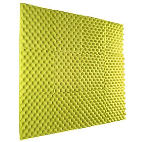 Faviye Akustikschaumstoff für Lärm zu Hause, bei der Arbeit und in der Freizeit, 30 x 30 x 3 cm E