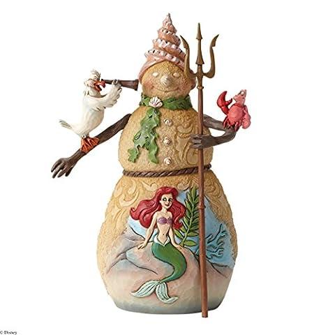 Disney Traditions 4046021 Figurine Bonhomme de Neige avec une Scène de la Petite Sirène 17,8 cm