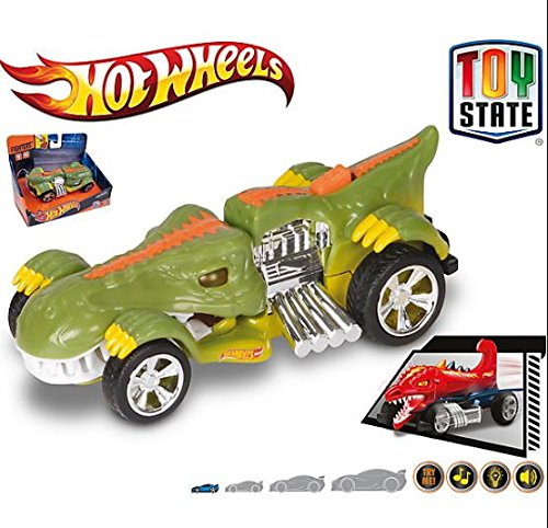 K's Kids Hot Wheels Coches con luz ,Sonidos y movimento Fighters T-Rextroyer