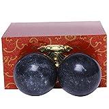 Qigong-Kugeln, 3,6cm, chinesische Übungen, Stresslinderung, Dunkelgrau/natürliche Jade, BS021