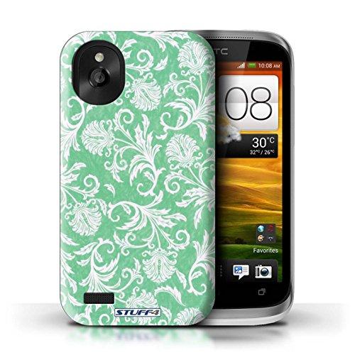 Kobalt® Imprimé Etui / Coque pour HTC Desire X / Fleurs Jaunes conception / Série Fleurs Fond Vert