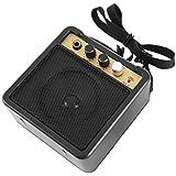 E-WAVE Mini amplificador de guitarra Amplificador de guitarra con clip trasero Accesorios de guitarra para guitarra eléctrica acústica E-WAVE (negro)