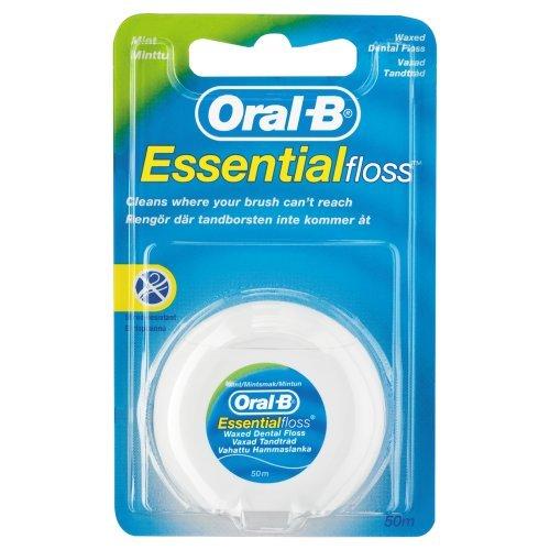 Oral-B Essential Floss Mint Waxed 50, Medium Test