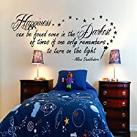 G Direct Harry Potter Happiness Can Be Found Dumbledore Inspirational Wall Sticker Quote 100x55