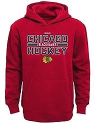 "Chicago Blackhawks Youth Jeunes NHL Reebok ""Hometown Pride"" Hooded SweatShirt Chemise"