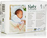 Naty by Nature Babycare Newborn ECO Nappies - Size 1, 2 x Packs of 26 (52 Nappies)
