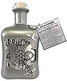BOLT Gin Geschenk limitiert 1.250 Flaschen aus Deutschland Edelmanufaktur Luxus Dry Gin Silber Tresor wilde Bergamotte und Kardamom Geschenkset mit 2 Gläsern TOP Qualität - 2