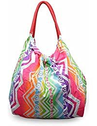 Alria Stylish Utility Women's Travel Tote Beach Bag-Multi Colour (AG2022a)