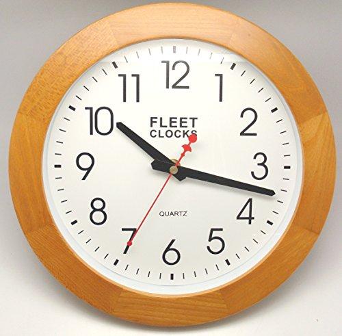 10-wood-wall-clock-quartz-kitchen-home-office-free-battery-10-wood-l