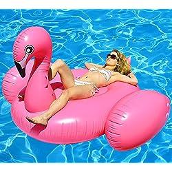 Beach Lounge Gigante Inflable Flamingo Piscina Flotador Rideable Bomba Rosa Playa Balsa Flotar Agua Juguete