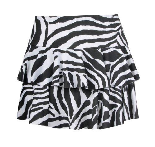 Tiger-print-rock (Fast Fashion Damen Rock Zebra Druck (EUR (36-38), Schwarz/Weiß))