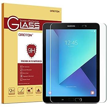 """OMOTON Samsung Galaxy Tab S2 9.7"""" SM-T813/S3 SM-T820 Protection d'écran Verre Trempé (9H,sans"""