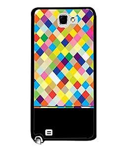 Fabcase pixels diamond cuts polygonal multishade colours art Designer Back Case Cover for Samsung Galaxy Note 2 :: Samsung Galaxy Note Ii N7100