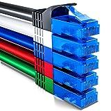 deleyCON 5X 0,5m CAT6 CAT6 Netzwerkkabel Set - U-UTP RJ45 CAT-6 LAN Kabel Patchkabel Ethernetkabel DSL Switch Router Modem Repeater Patchpanel - Bunt