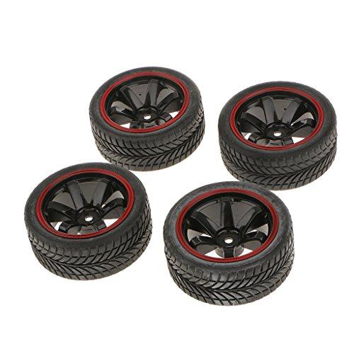 MagiDeal Satz Von 4 Rallye-Reifen Reifen & Felgen Mit 12mm Hex Für Rc 1/10 Hsp Auto